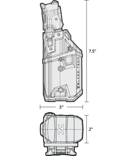 Visor TRIJICON ACOG 6x48 ilum. dual ret. chevron verde. Cal. 308