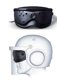 Pueden emplearse con cualquier tipo de casco de combate