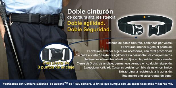 Cinturón interior de nylon para policía y seguridad privada