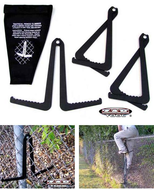 Kit táctico para escalada de vallados de reja metálica